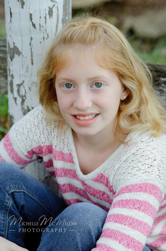 Fall child photo at Pine Knob