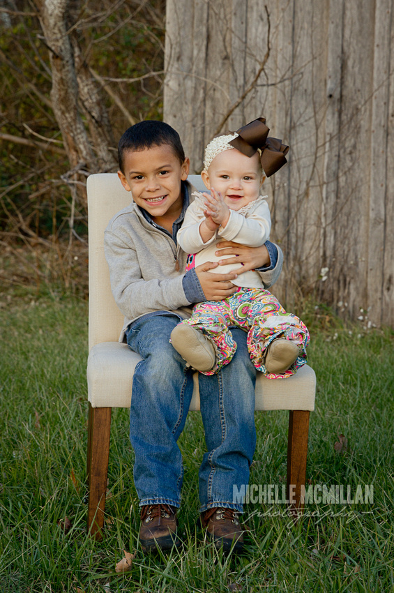 8 month baby and sibling