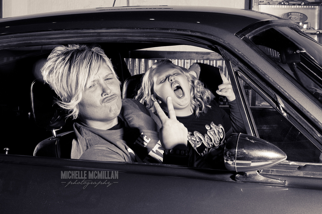 vintage car family picture