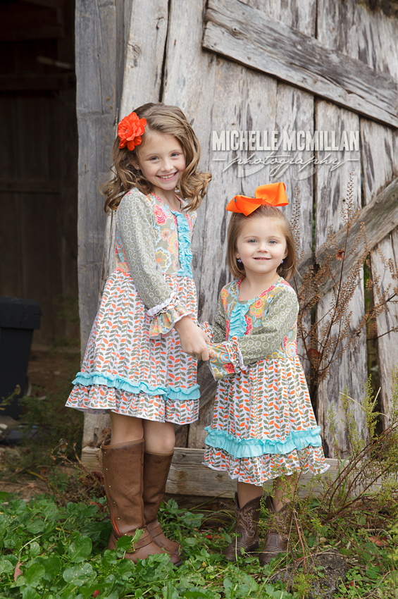 Fall photography of little girls