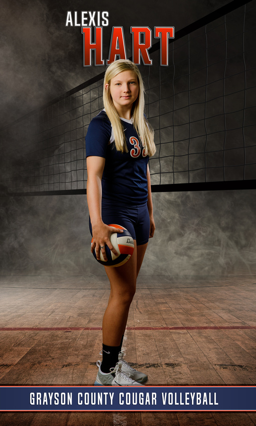 Senior volleyball player